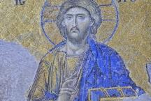 Мозаичное изображение Спасителя из храма Святой Софии Премудрости Божией в Константинополе