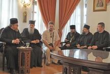 На приеме у наместника монастыря Симонапетра