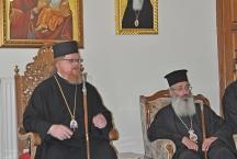 Епископ Подольский Тихон с митрополитом Салоникийским Анфимом