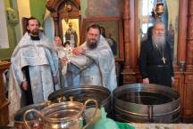 Праздник Крещения Господня в Тихвинском храме. Великое освящение воды